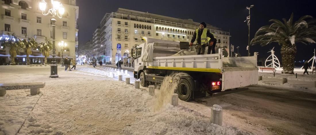 """Περιφέρεια Κεντρικής Μακεδονίας: η κακοκαιρία """"έφαγε"""" το αλάτι για ...δύο χειμώνες!"""