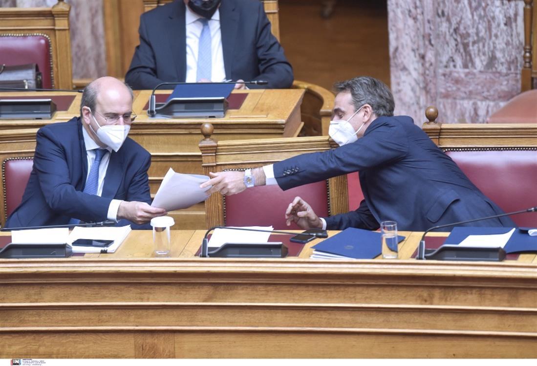 Μητσοτάκης - Χατζηδάκης - Βουλή