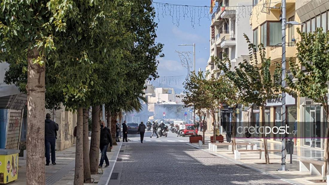 πορεία - Κουφοντίνας  - Ηράκλειο - επεισόδια - gallery