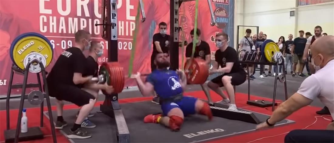 Αρσιβαρίστας κατέρρευσε προσπαθώντας να σηκώσει 400 κιλά (βίντεο)