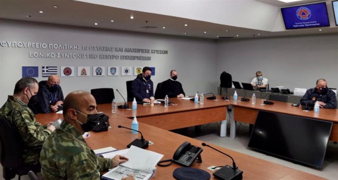 Τεχνική σύσκεψη - Χαρδαλιάς - Πολιτική Προστασία