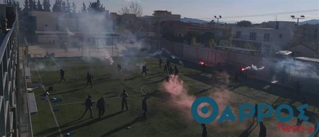 Πετροπόλεμος, δακρυγόνα και τραυματίες σε αγώνα της Γ΄ Εθνικής (βίντεο)