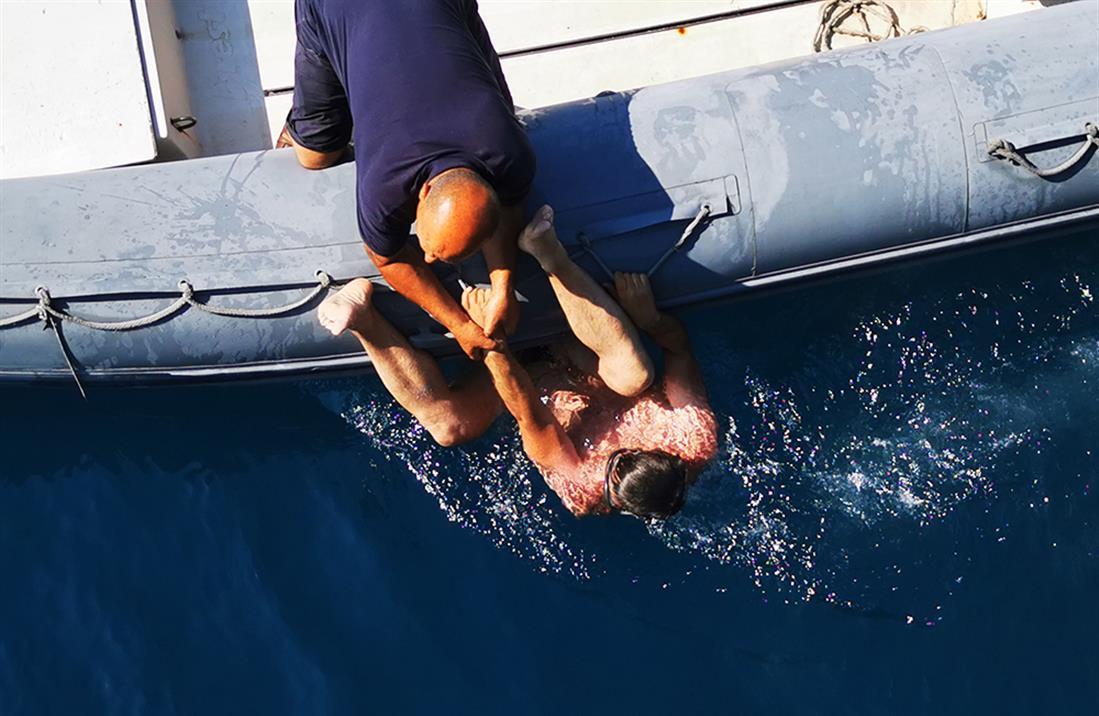 Επίθεση φώκιας - λουόμενος - Αλόννησος