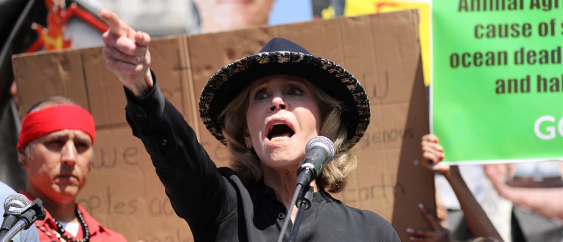 Συνέλαβαν την Τζέιν Φόντα εν ώρα διαδήλωσης (βίντεο)