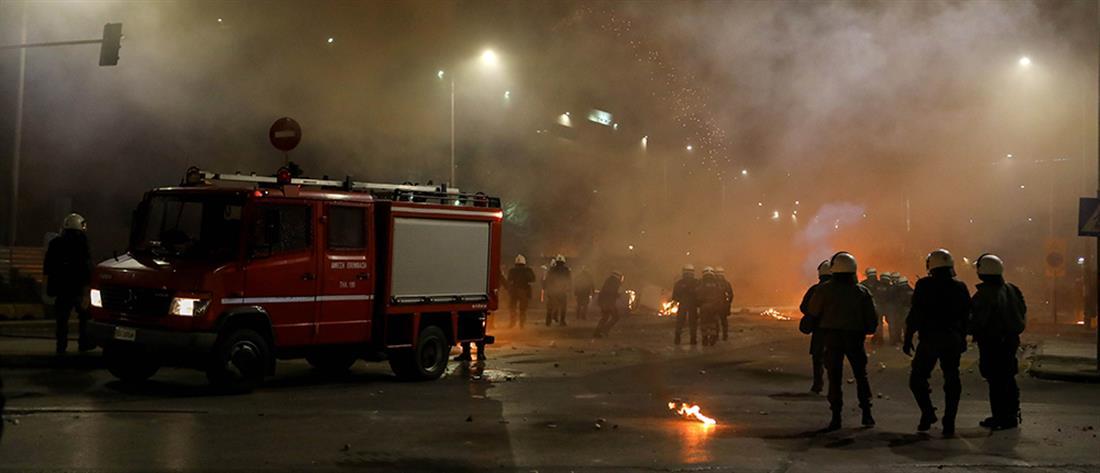 Πεδίο μάχης το κέντρο της Θεσσαλονίκης στην επέτειο Γρηγορόπουλου (βίντεο)