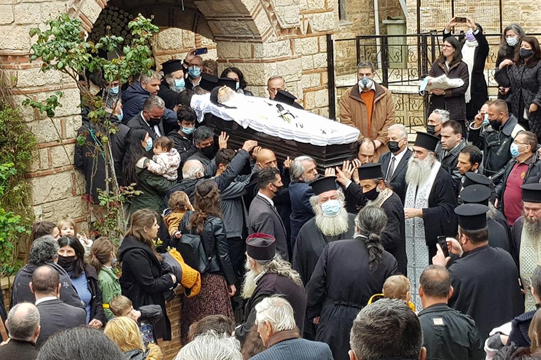 Ιερά Μονή Κοινοβιάρχου - Άγιος Στέφανος - κηδεία - Αρχιμανδρίτης Σαράντης Σαράντος