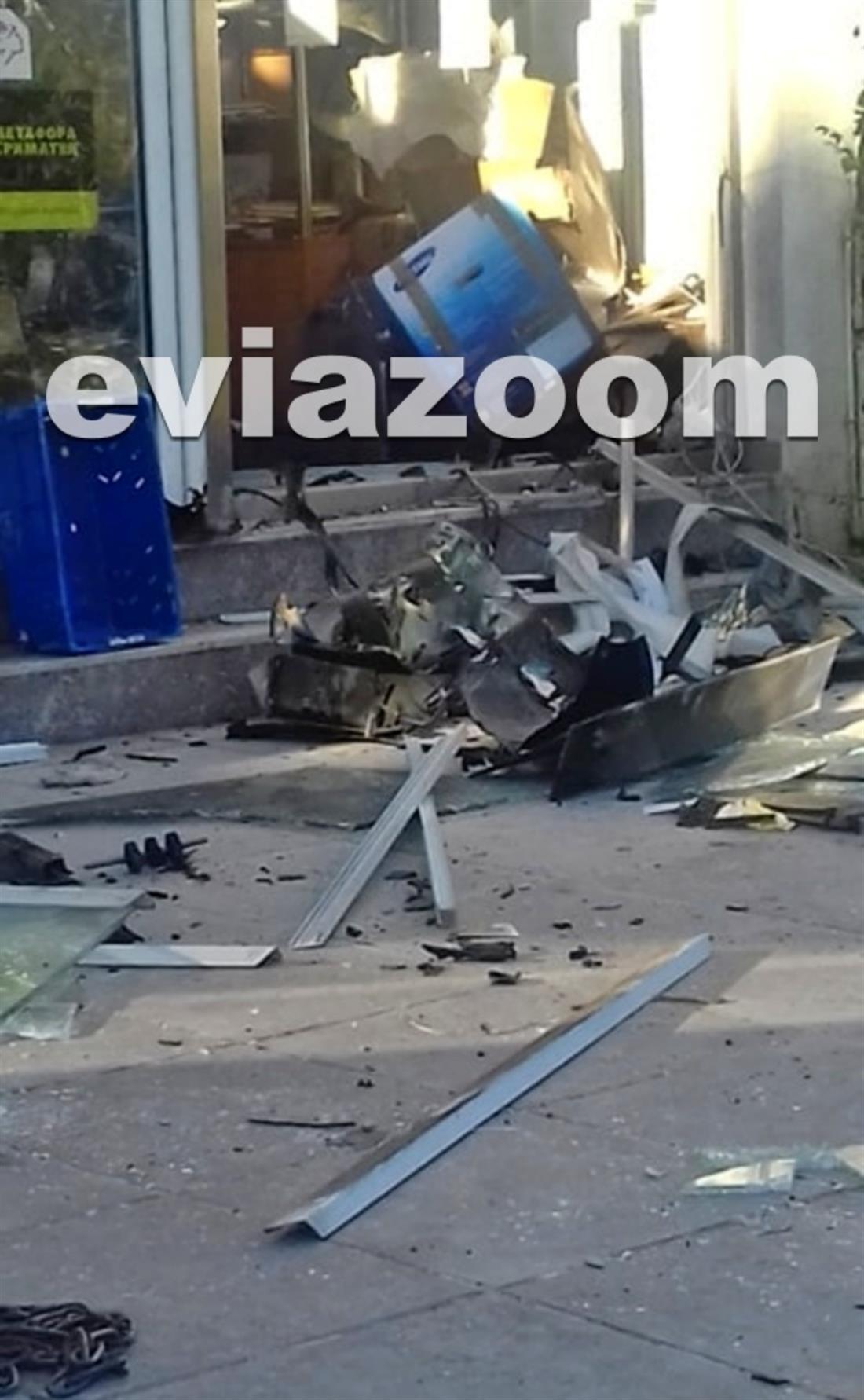 ATM - έκρηξη - Βασιλικό Χαλκίδας