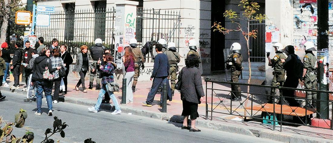 ΑΣΟΕΕ: επίθεση με πέτρες σε αστυνομικούς
