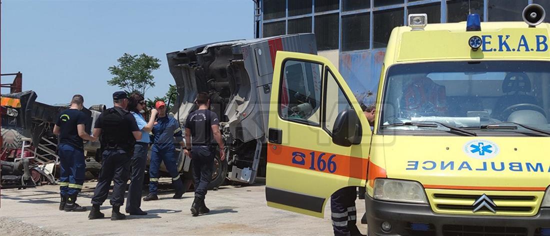 Εργατικό δυστύχημα σε συνεργείο αυτοκινήτων (εικόνες)