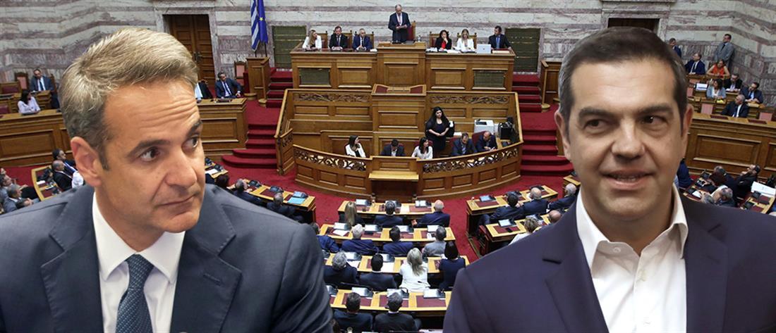 Βουλή: σε μετωπική σύγκρουση οι πολιτικοί αρχηγοί
