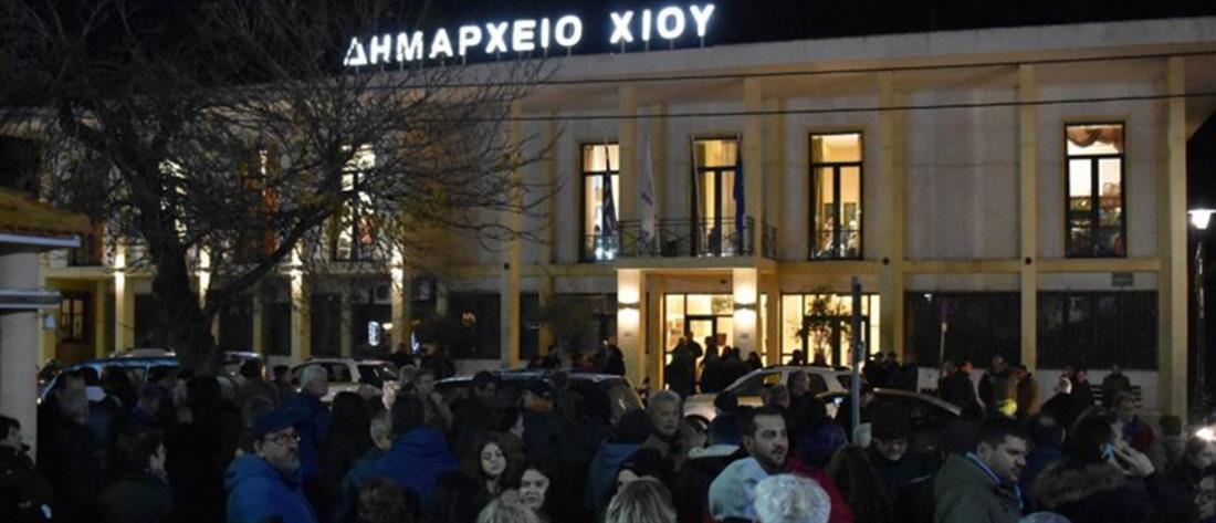 Αποδοκιμασίες κατά Μηταράκη και επεισόδια στη Χίο