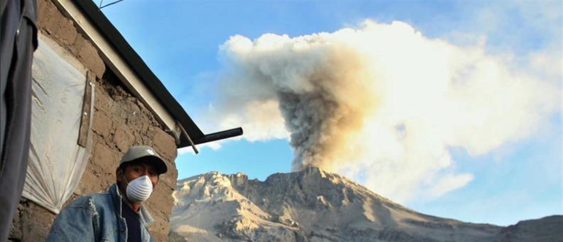 """""""Ξύπνησε"""" το ηφαίστειο Ουμπίνας στο Περού"""