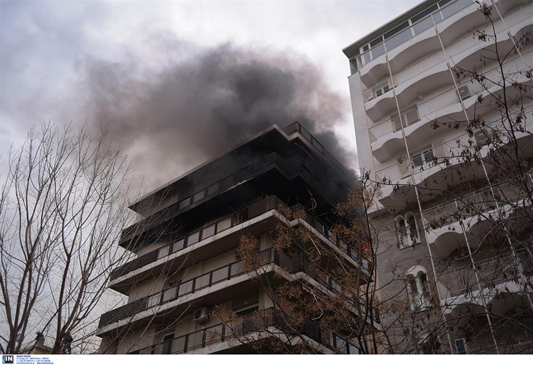 φωτιά - διαμέρισμα - Π. Φάληρο