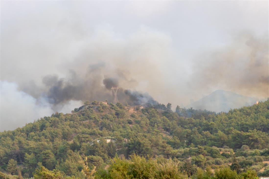 Ρόδος - φωτιά - πυρκαγιά
