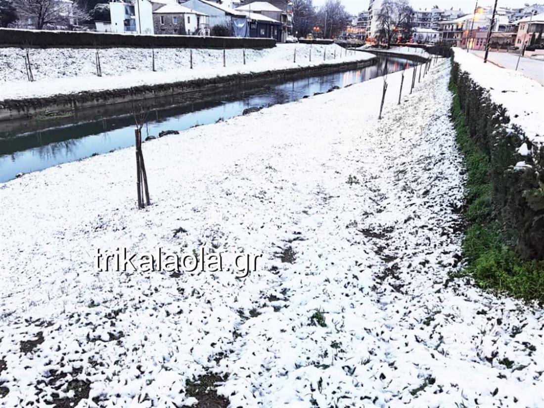 Τρίκαλα - χιόνια