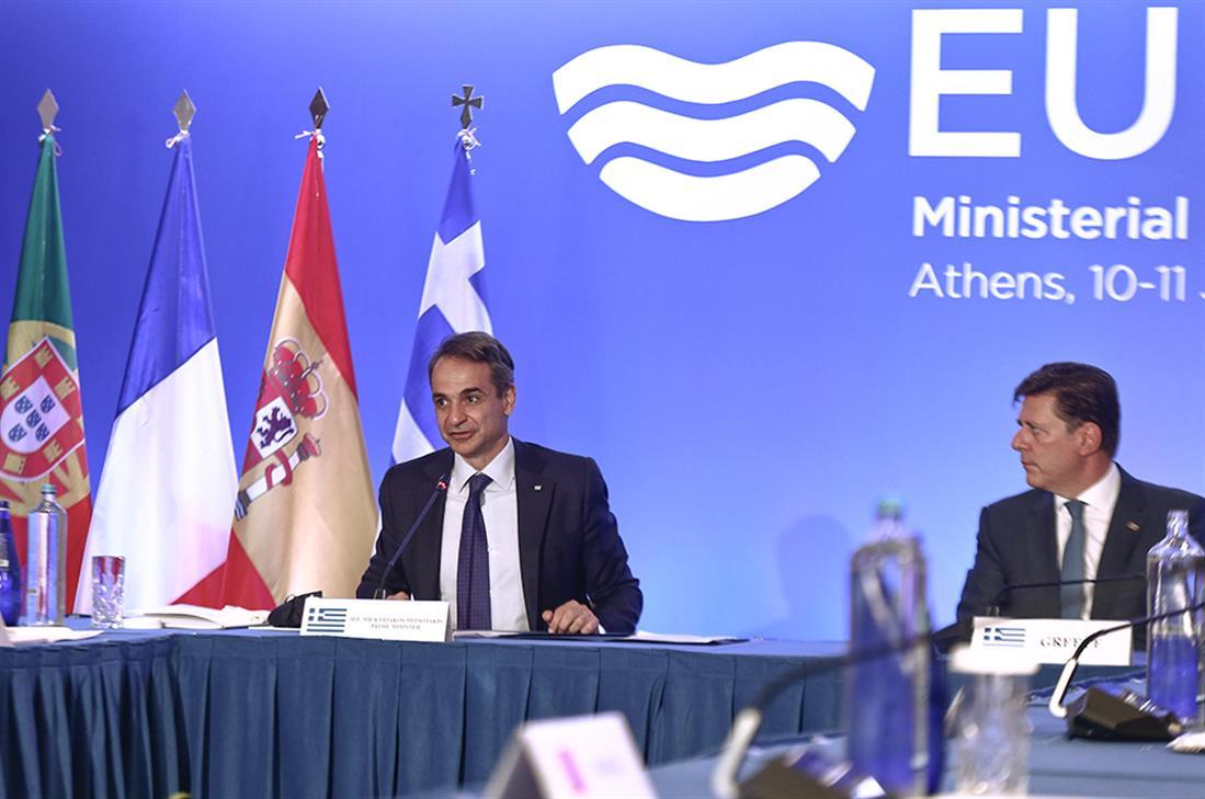 Κυριάκος Μητσοτάκης - Υπουργική Σύνοδος Med7 - Αθήνα