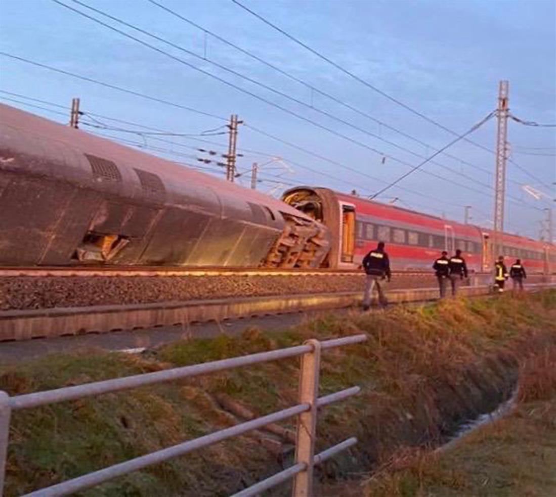 τρένο - εκτροχιασμός - Μιλάνο