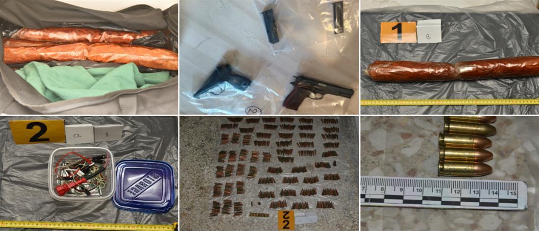 Αντιτρομοκρατική: Το οπλοστάσιο στη γιάφκα και τα σπίτια των συλληφθέντων (εικόνες)