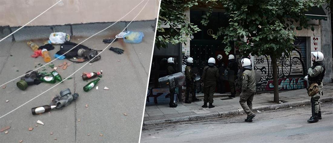 Έφοδοι αστυνομικών σε πολυκατοικίες στα Εξάρχεια (εικόνες)