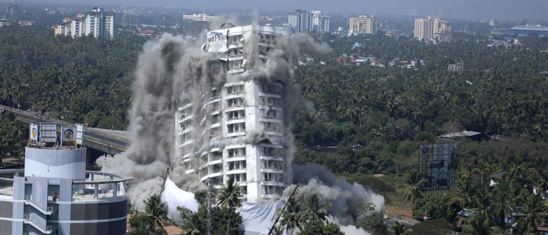 Ινδία: Ανατίναξη πολυτελών κτιριακών συγκροτημάτων (βίντεο)