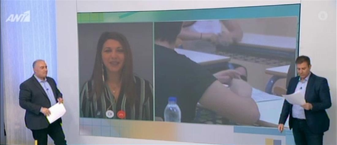 Ζαχαράκη στον ΑΝΤ1: Πανελλαδικές Εξετάσεις στην ύλη που έχει διδαχθεί στην τάξη (βίντεο)