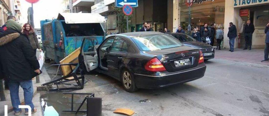 """Τραυματίες από """"τρελή πορεία"""" ΙΧ στην Θεσσαλονίκη (εικόνες)"""