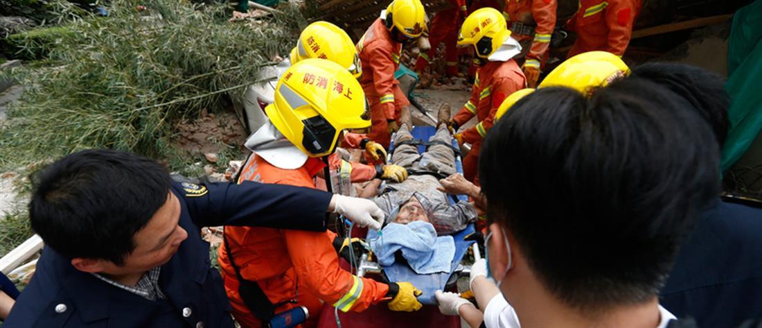 Τραγωδία από την κατάρρευση κτηρίου στην Σαγκάη (βίντεο)