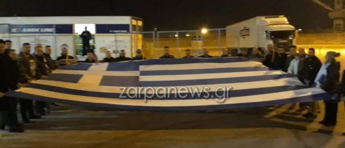 """Με το """"Μακεδονία ξακουστή"""" αναχώρησαν από τα Χανιά για το συλλαλητήριο στην Αθήνα (βίντεο)"""