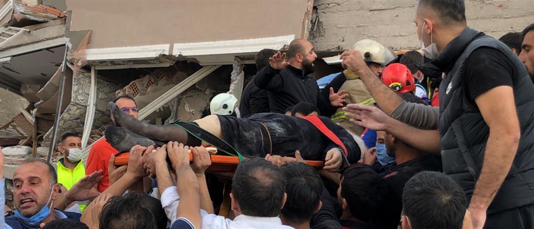 Σεισμός στην Σάμο: νεκροί, καταρρεύσεις και εγκλωβισμοί στην Τουρκία (βίντεο)