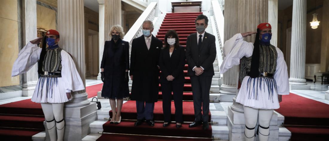 Σακελλαροπούλου σε Πρίγκιπα Κάρολο: Μας συγκινήσατε με την παρουσία σας (εικόνες)