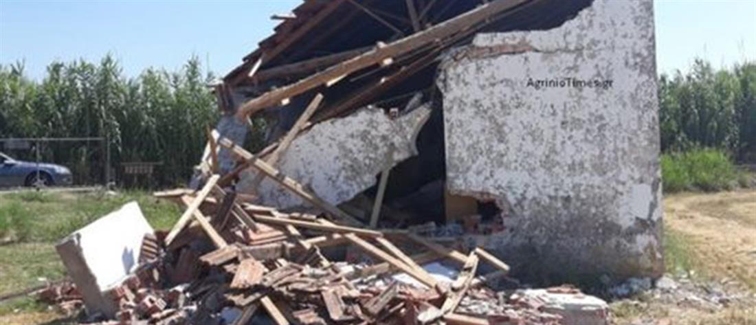 Εικόνες ντροπής: Ζευγάρι κατέστρεψε εκκλησάκι του Αγίου Νικολάου