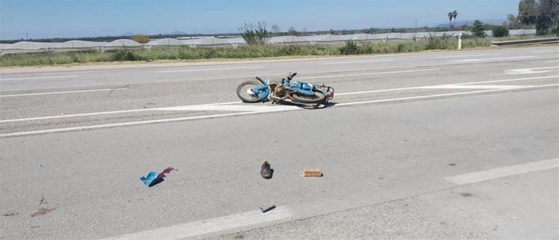 Νεκρός ηλικιωμένος σε τροχαίο με μηχανάκι