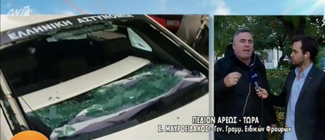 Μαυροειδάκος στον ΑΝΤ1 για την επίθεση σε περιπολικό: το έσπαγαν με βαριοπούλα κι ο αστυνομικός ήταν μέσα (βίντεο)