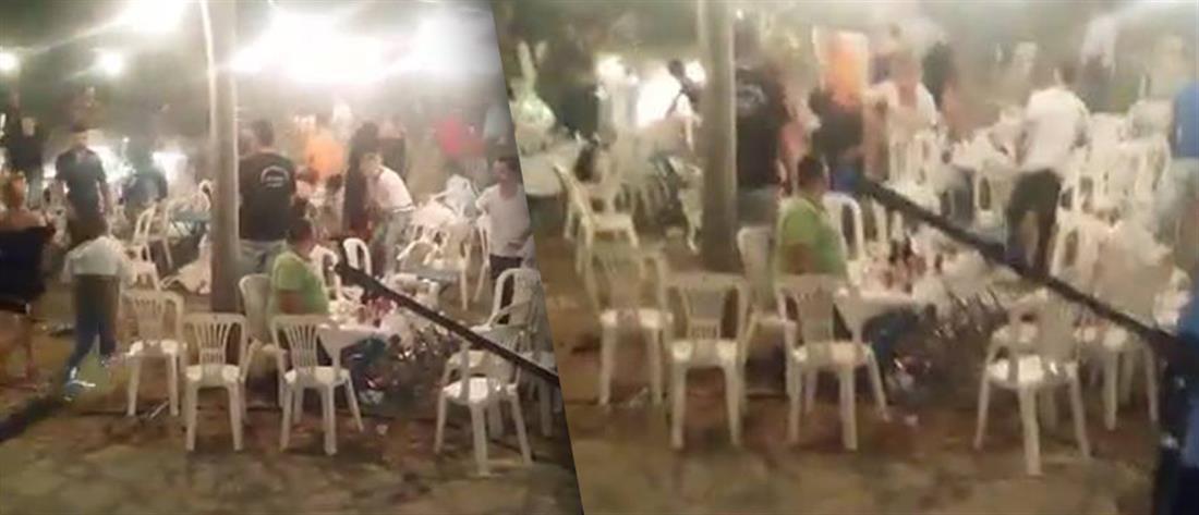 """Τρόμος στην Αχαΐα: """"Μπούκαρε"""" με το αυτοκίνητο σε πανηγύρι (βίντεο)"""