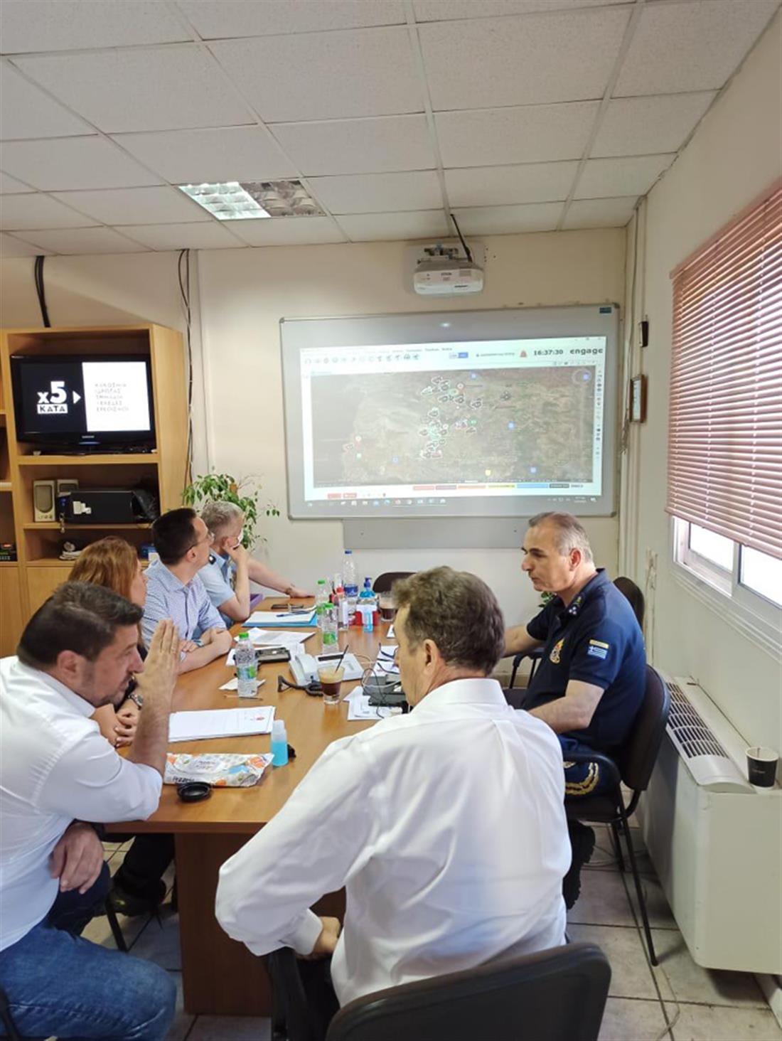 Χρυσοχοΐδης - Χαρδαλιάς - Συντονιστικό Κέντρο Επιχειρήσεων της Πυροσβεστικής