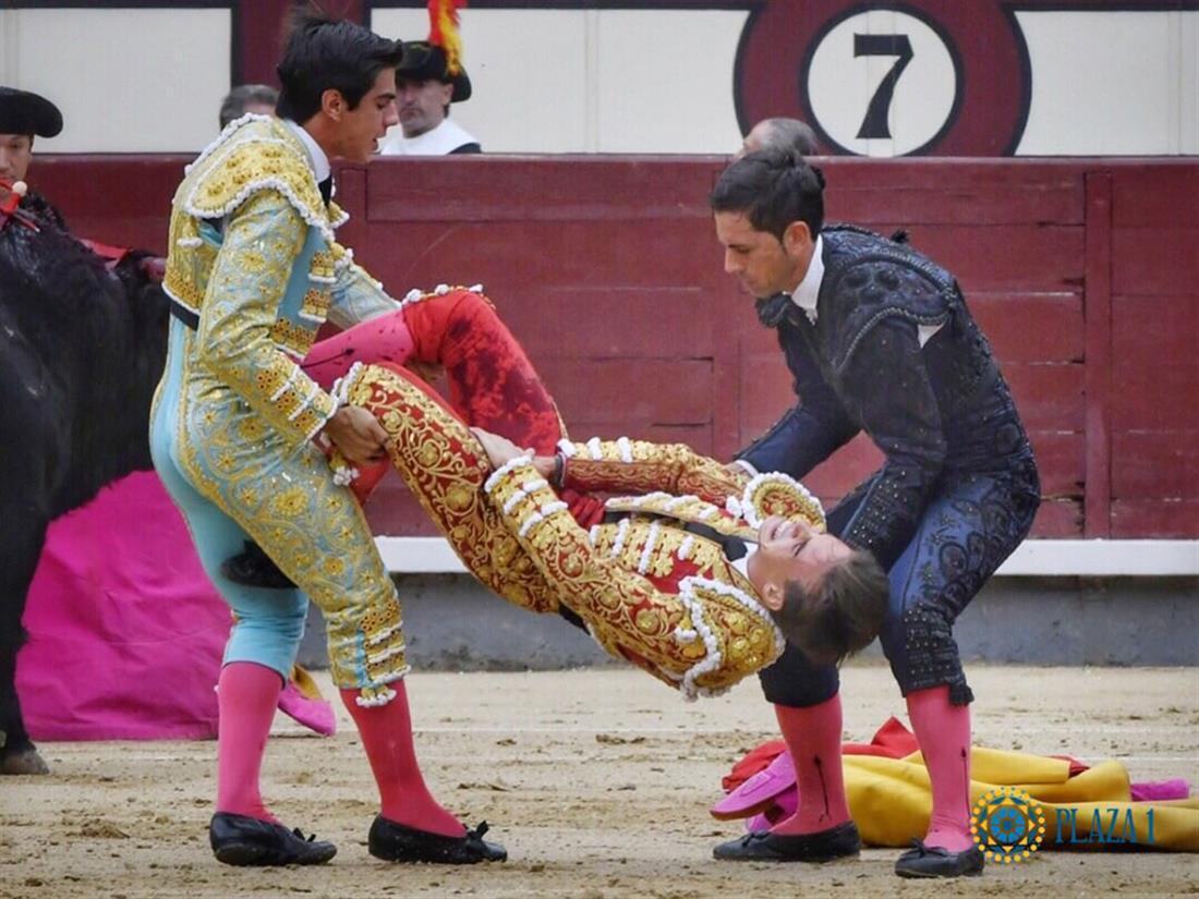 ταύρος - καρφώνει- ταυρομάχο - Ισπανία