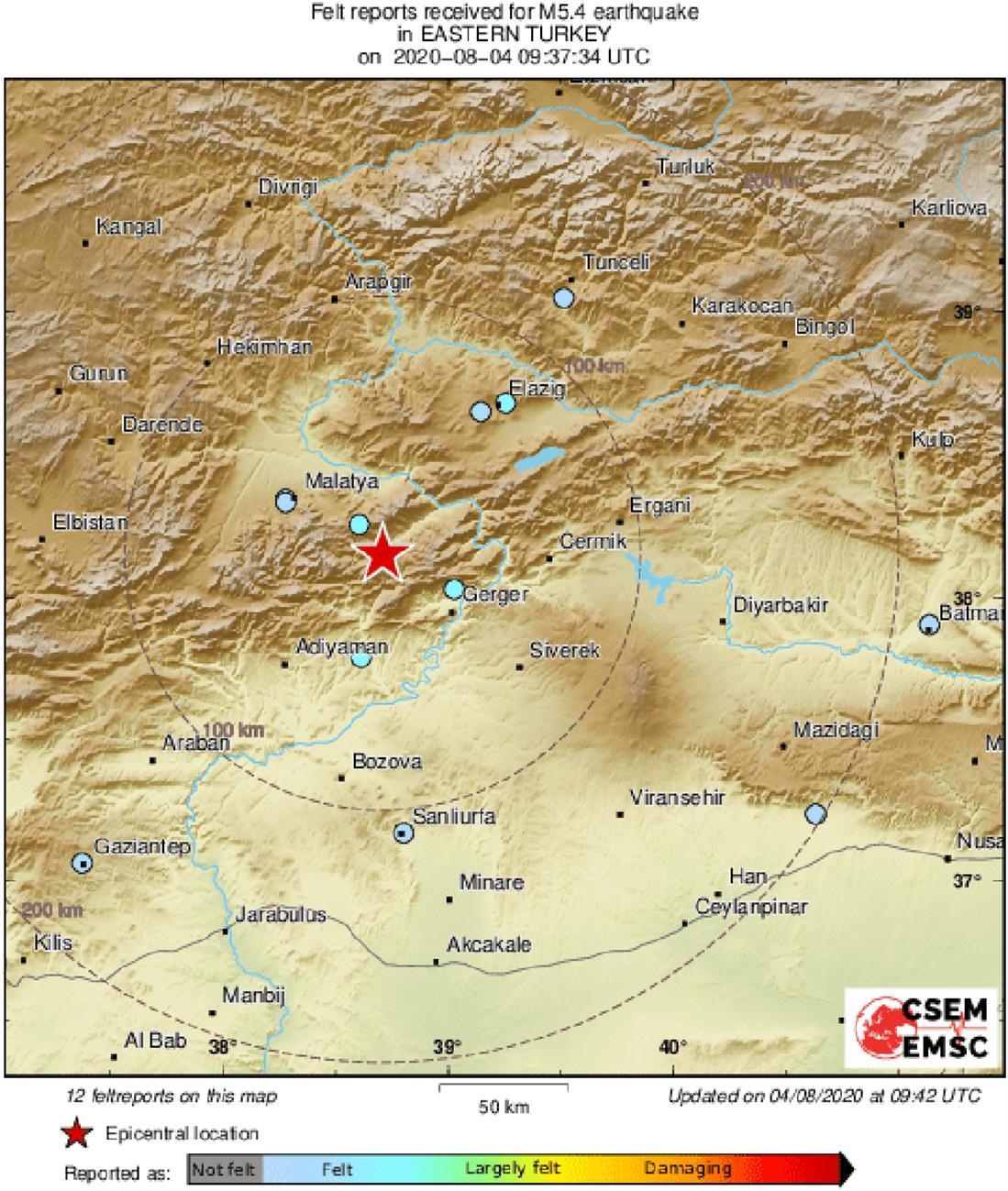 Σεισμός - Τουρκία
