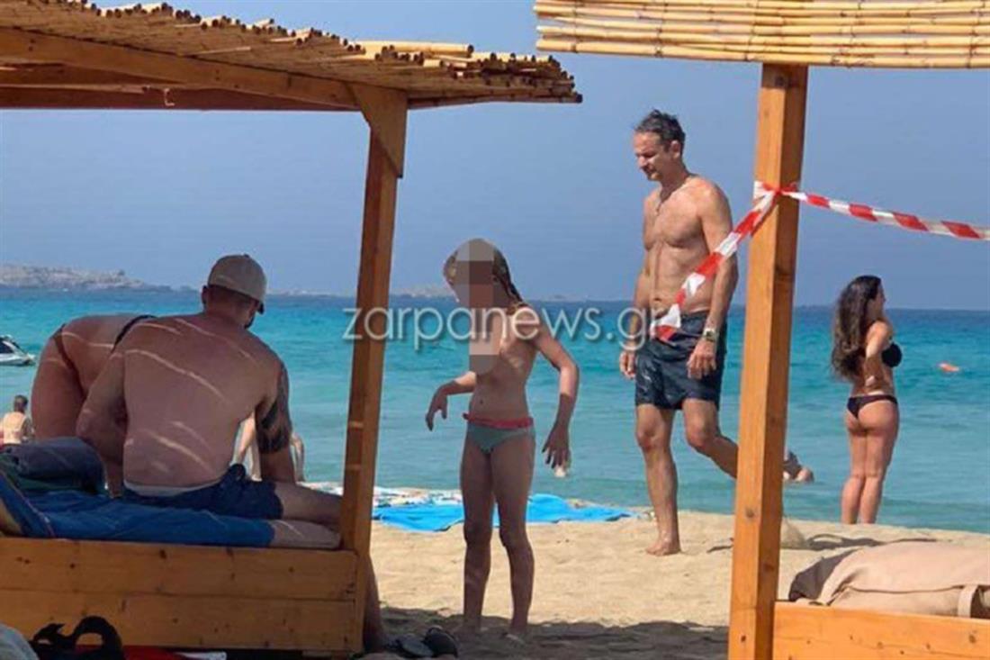 Κυριάκος Μητσοτάκης - διακοπές - Κρήτη - Φαλάσαρνα