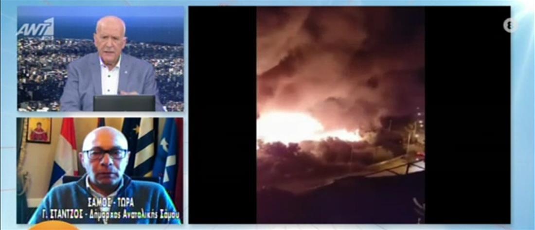 Στάντζος στον ΑΝΤ1: Εμπρησμός η φωτιά στο ΚΥΤ (βίντεο)
