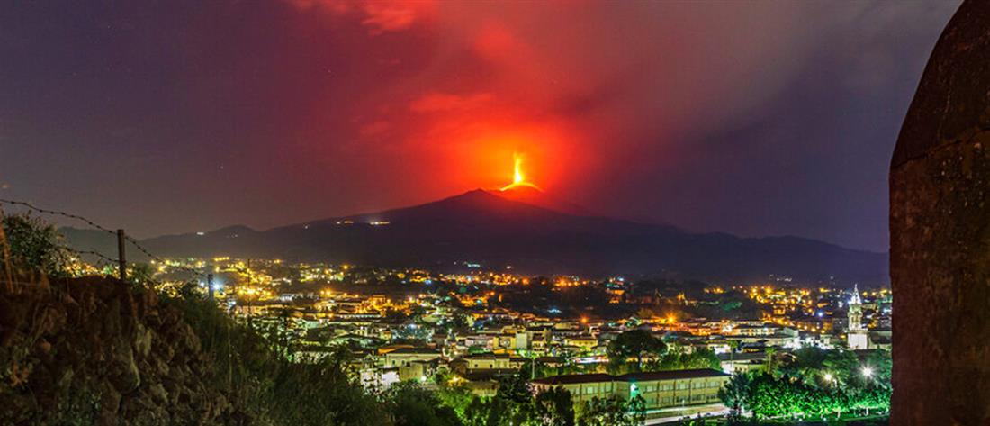 Αίτνα: Εντυπωσιακές εικόνες από τη νέα έκρηξη (βίντεο)