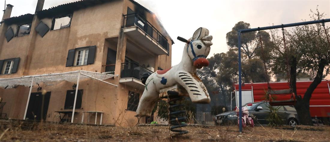 Φωτιά στη Βαρυμπόμπη: Βελτιωμένη και αποκαρδιωτική η εικόνα της πυρκαγιάς (εικόνες)