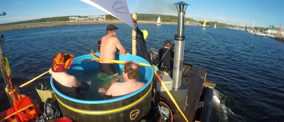 Ο διάπλους της Βαλτικής μέσα σε μία… μπανιέρα (βίντεο)
