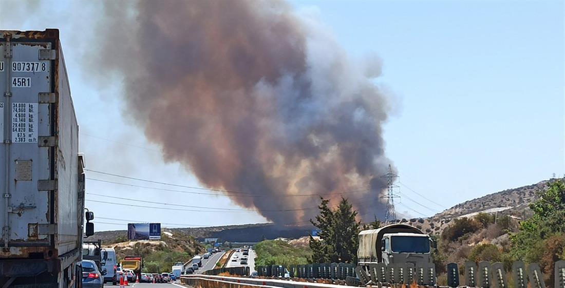 Κύπρος - Ακτή Κυβερνήτη - πυρκαγιά