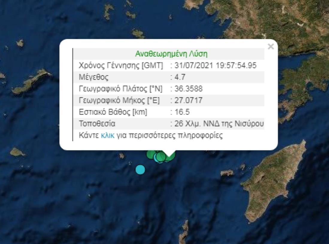 Νίσυρος - Σεισμός