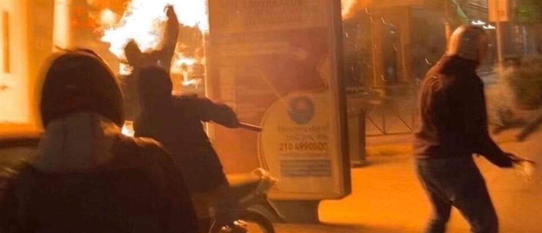 Εικόνες σοκ από την επίθεση με μολότοφ σε σύνδεσμο του Ολυμπιακού