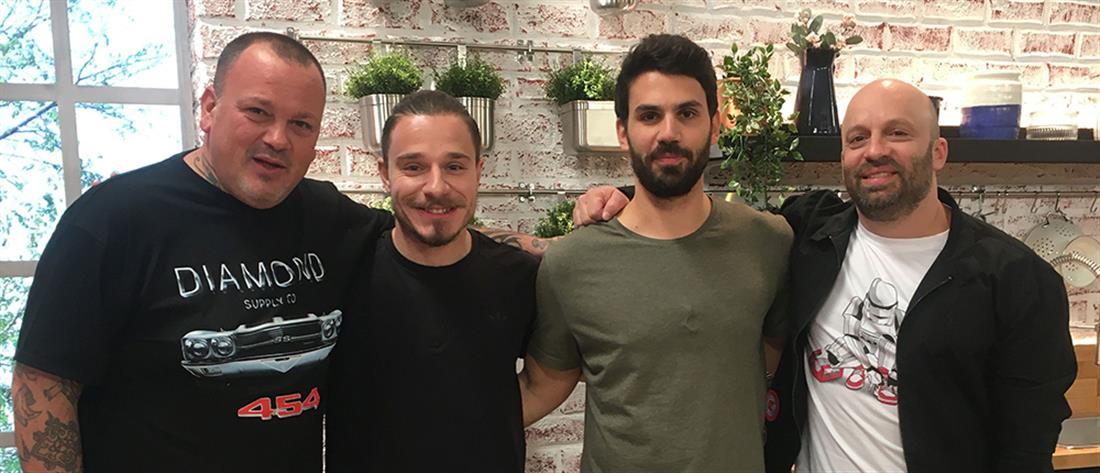 """Λέντζας και Γιακουμίδης… παίζουν μπάλα στο """"Food N' Friends"""" (εικόνες)"""