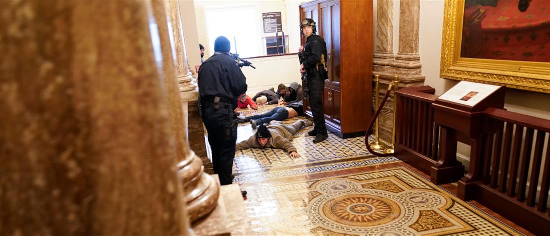 Καπιτώλιο: Εισβολή διαδηλωτών, τραυματίες και χάος (εικόνες)