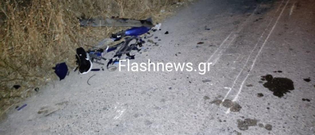 Τροχαίο στα Χανιά: Νεκρός 18χρονος μοτοσικλετιστής (εικόνες)