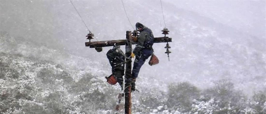 """Προβλήματα στην ηλεκτροδότηση από την κακοκαιρία """"Ηφαιστίων"""""""