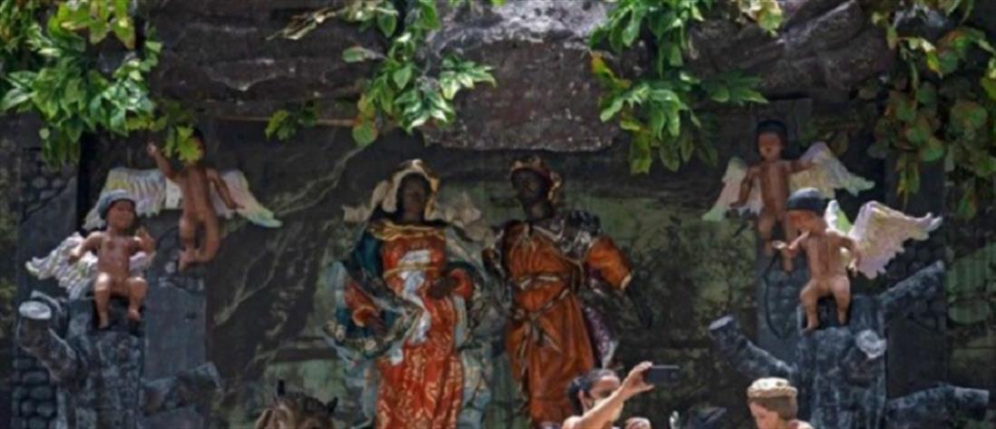 Μαύρος Ιησούς στη φάτνη της καμένης Αμαζονίας